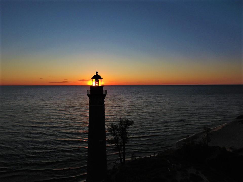 Last nights sunset at #silverlake #littlepointsable #PureMichigan #lakemichigan