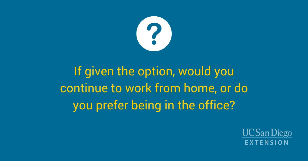 Are you team #workfromhome or team #backtotheoffice? #newnormal #covid19