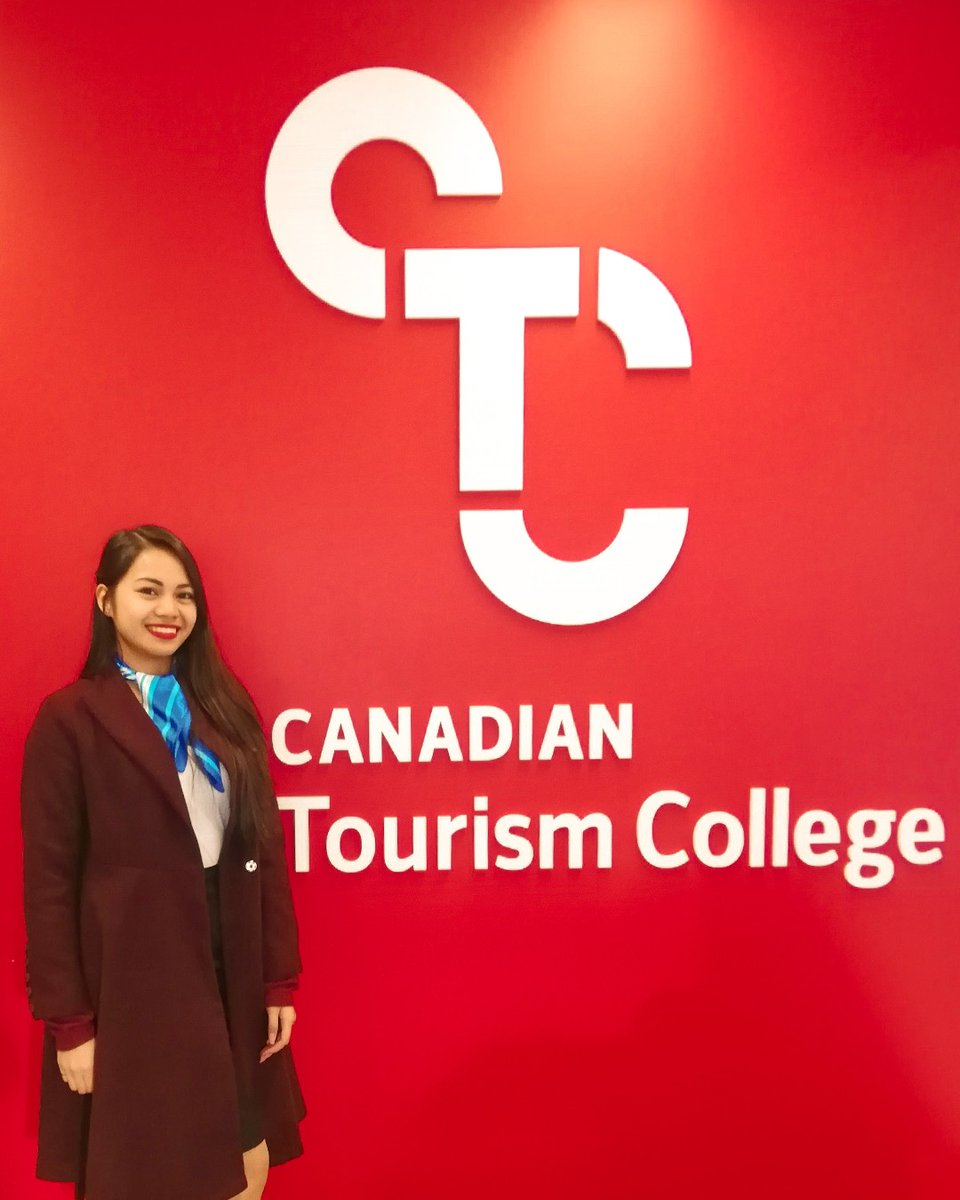"""Meet CTC student Darwesha! What is her favourite thing about working in #tourism? """"Customer service. My favorite part is dealing with people of different cultures. I love meeting a lot of people and getting their genuine smile"""". Thanks for sharing your experience Darwesha! pic.twitter.com/dPdrfVFWwy"""