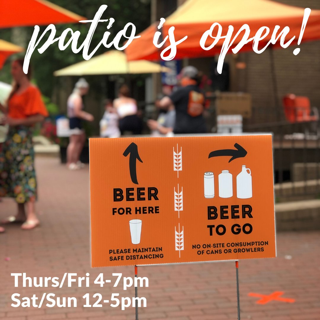 Our patio is OPEN this weekend 12-5pm! Stop by for a quick BEER for HERE, then grab some cans or a growler for BEER TO-GO (note: to-go alcohol may not be consumed on-site). . . #taproomtogo #supportsmallbusiness #itsabeautifulday #reston #lifeonlakeanne #drinklocal #craftbeerlove https://t.co/Yj3XbNCR9h
