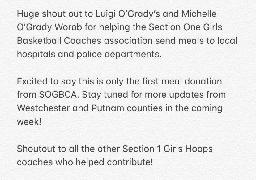 Love the Section One Girls Hoops coaches & community. Happy to be able to give back when we can! 🏀 https://t.co/SyWD63zau2