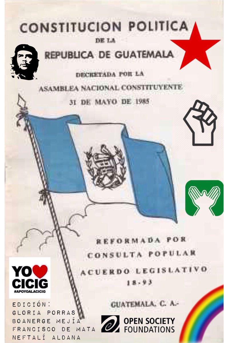 Equivocadamente los Consituyentes crearon un SUPRA organismo que en los últimos años terminó de desbaratar el orden constitucional en #Guatemala.  A los 35 años de la Constitución, esperamos que estén contados los días en libertad de Porras, Mejía, De Mata y Aldana. #SOCIEDADGT https://t.co/U8gYhLKL16