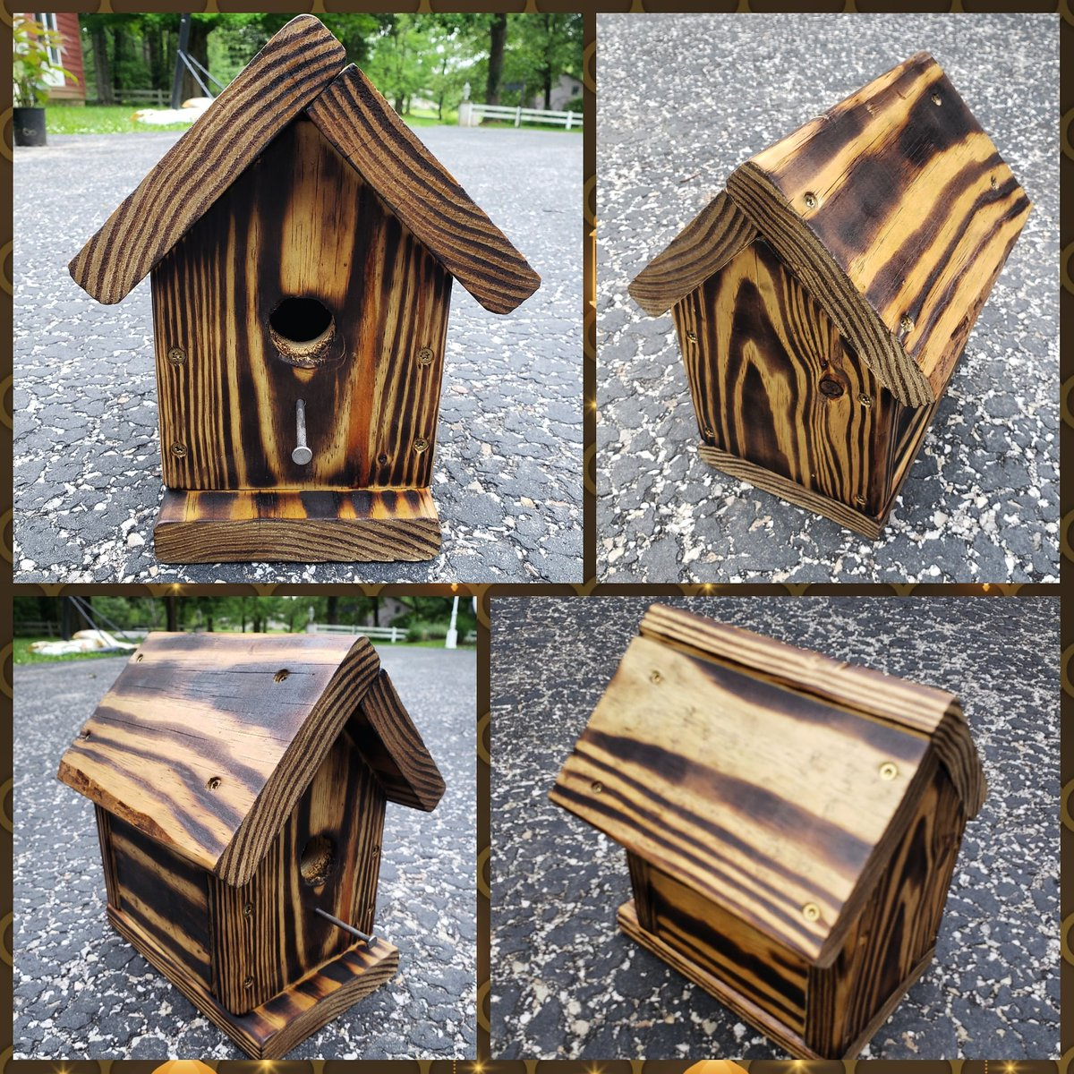 Excited to share the latest addition to my #etsy shop: Rustic Burnt Birdhouses #birdhouse #rustic #garden #birds #gift #homemade