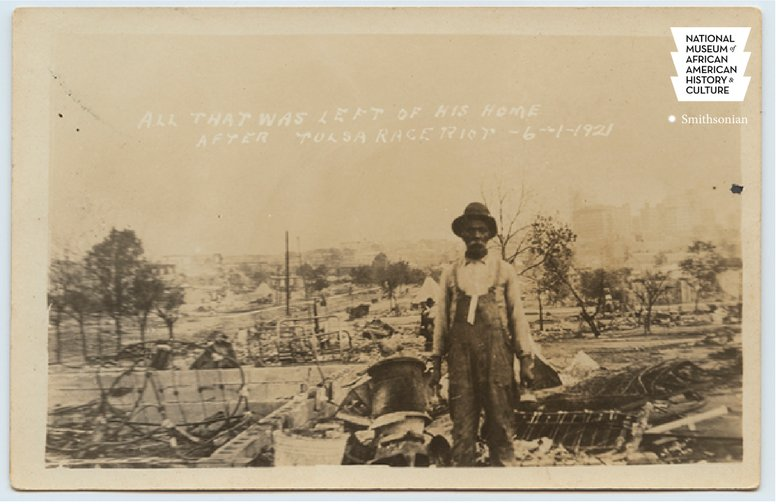 #OTD in 1921, the deadliest racial massacre in U.S. history began in the thriving Greenwood African American community of Tulsa, OK.   Black Wall Street in Tulsa, OK was destroyed by a racist mob. #APeoplesJourney #ANationsStory https://t.co/QDtlyrnfka
