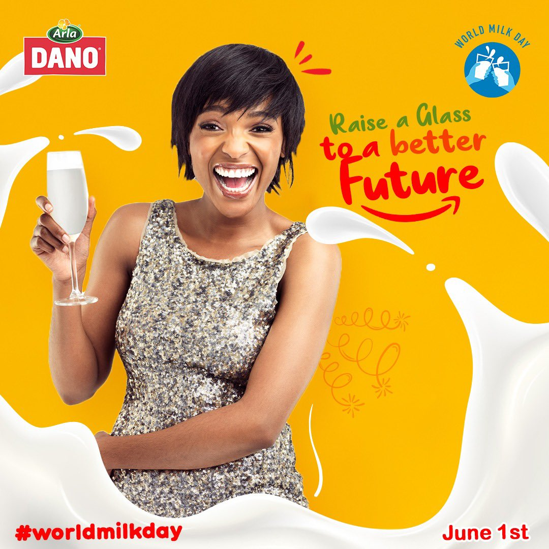 Tomorrow is #WorldMilkDay. Let's celebrate it with @danomilk_ng and also win 2k airtime while doing that.  Share a selfie with a raised glass of milk and tell us what better days mean to you using the hashtag #DanoMilkyCheers 🥛 https://t.co/WE8lb2Ndvr