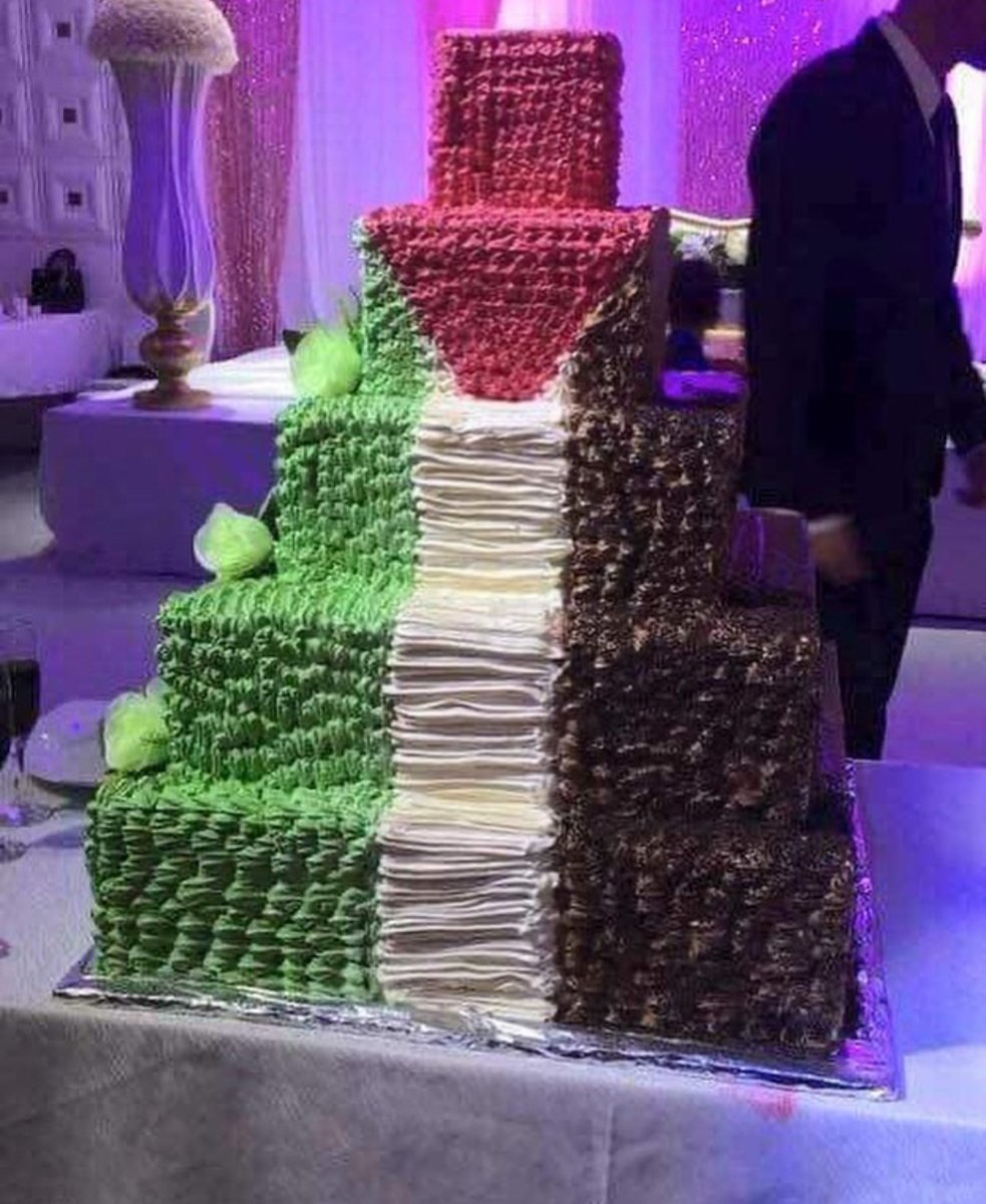 #Palestinian flag cake This is awesome #Wonderful #cakepic.twitter.com/nES7qxnjPr