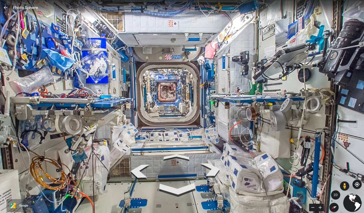 @Astro_Doug @AstroBehnken @Space_Station @SpaceX @esa @JAXA_en The new arrivals will exit the @SpaceX #CrewDragon to this view of the US Destiny laboratory (with @ivan_mks63 and @Astro_SEAL). Explore the @Space_Station yourself via @googlemaps street view: earth.app.goo.gl/W3g8cc