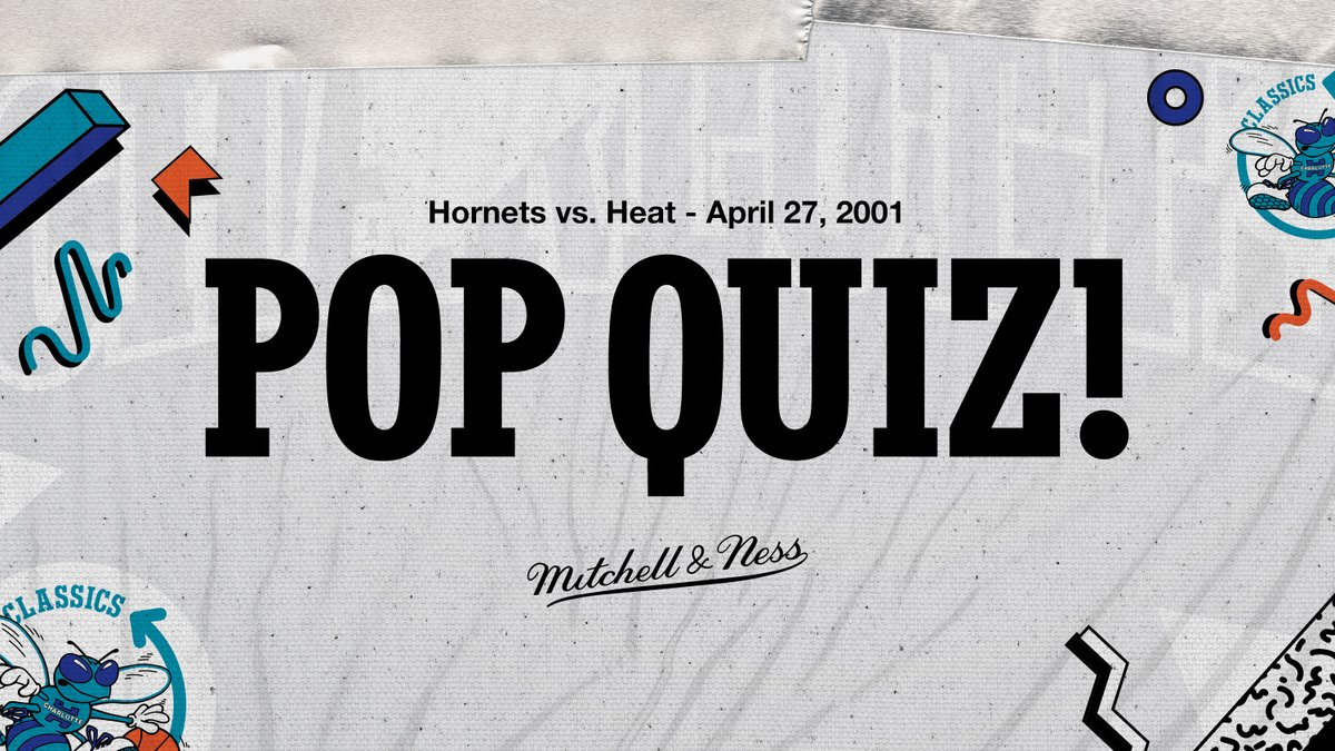 Get prepped for tonight's #HornetsClassics game with our POP QUIZ!   👉🏽  https://t.co/k0nDYCDRQ9 | @mitchell_ness https://t.co/vUDMWk1lMY