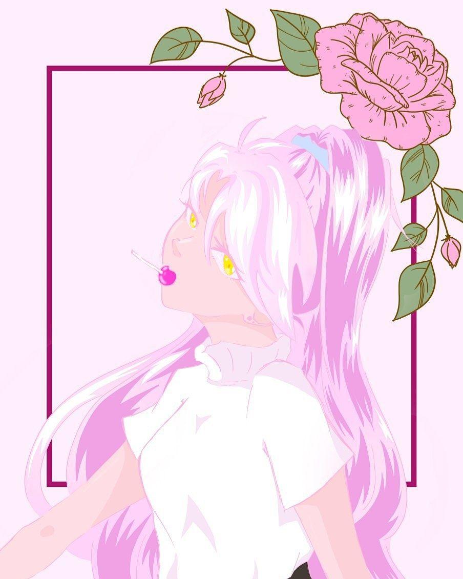 just pink everything 👚♀️  #pinkart  #ArtistOnTwitter  #pinkhair