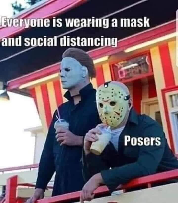 #crront #comiccon #jasonvoorhees #michaelmyers #SoCal #WearAMask https://t.co/fmIDAy7lbs