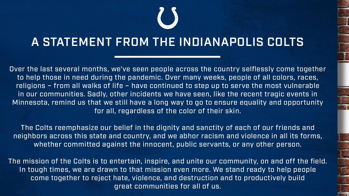 Indianapolis Colts (@Colts) on Twitter photo 31/05/2020 17:52:36