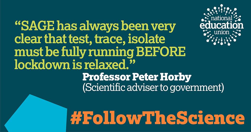#FollowTheScience and reopen schools when it is safe @rushanaraali @ApsanaBegumMP