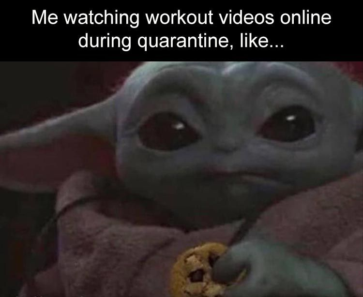 Watching workout videos online during quarantine be like.   Baby Yoda Memes. #offensivememes #memelord #dailymemes #nicememe #memepage #spicymemes #funnymeme #dankmeme #funnymemes #memesdaily #memez #edgymemes #memegod #savagememes #dankmemesdaily #memespic.twitter.com/Gqz3kPBRVC