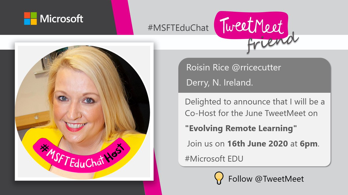 🎈Save the Date🎈  Remote Learning is Evolving!  Delighted to be co-hosting this exciting June TweetMeet. Had a super Saturday connecting with the other hosts yesterday.  Global collaboration at it's best. 🗺️🌍🌎🌏  #MSFTEduChat #MicrosoftEDU https://t.co/hanjZlsxPw