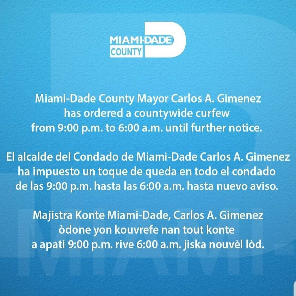 Be sure to keep an eye out here for important updates during these trying times! We're with you ❤️ - @MACKONTHERADIO & @iAmLettyB #MackInTheMorning   #Repost (📸: @claudiamonair)  Residents of Miami-Dade here's some important info. #miami #miamidade