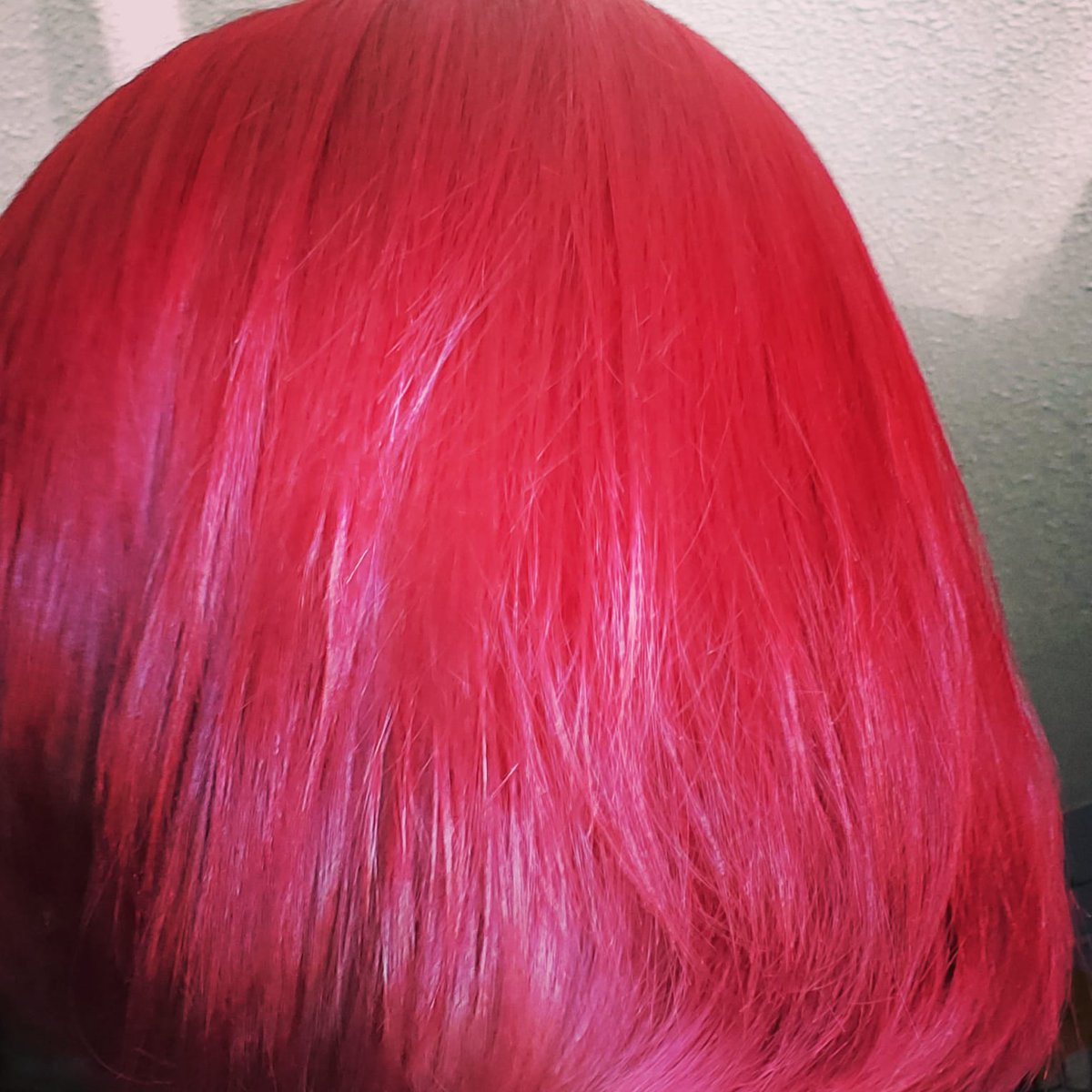 So 3 yrs after a stylist totally fried my hair its finally healthy enough to go #Pink again .... Did it myself .... what's everyone think? #pinkhair