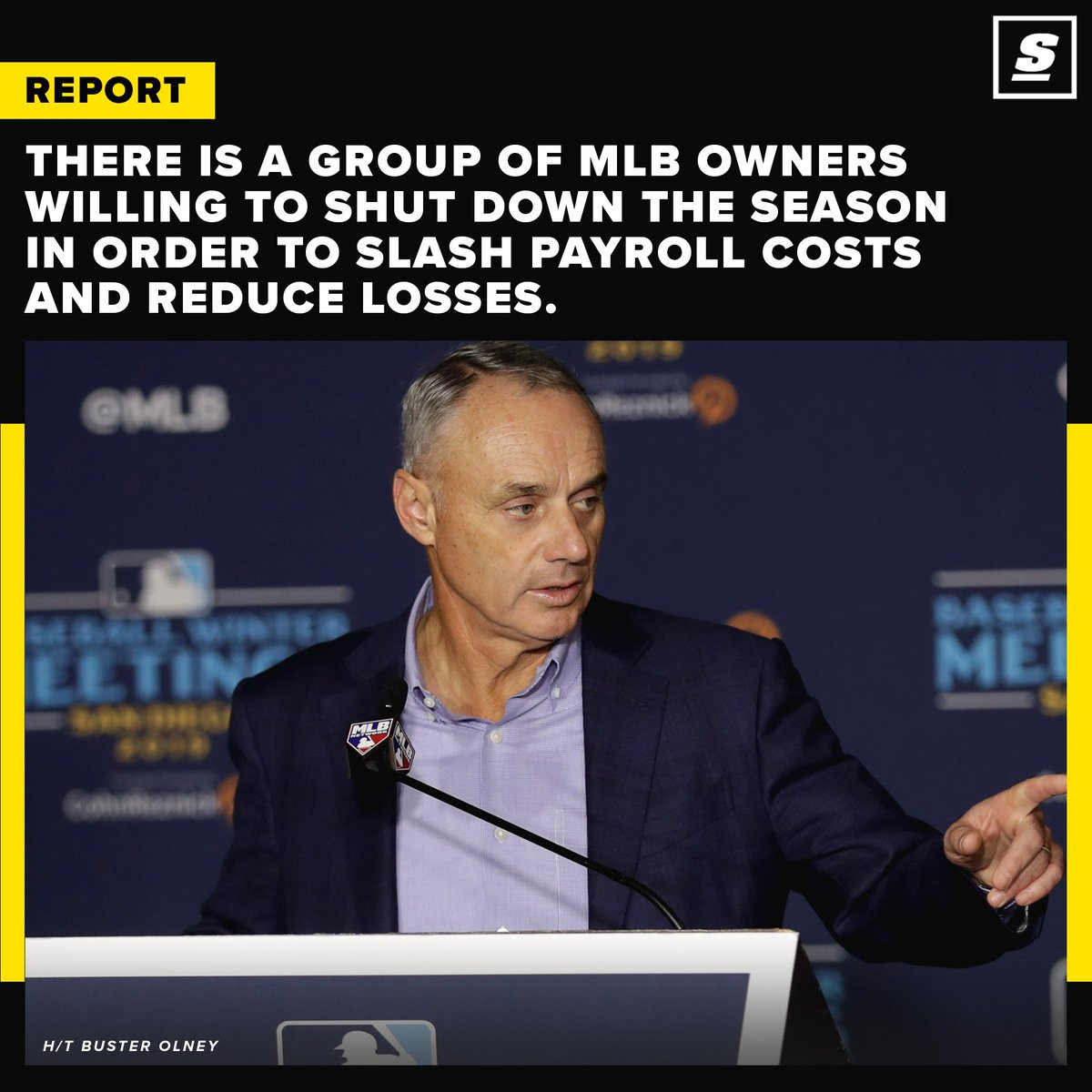 Some MLB owners are ready to close the door on the possibility of having a season. 👀