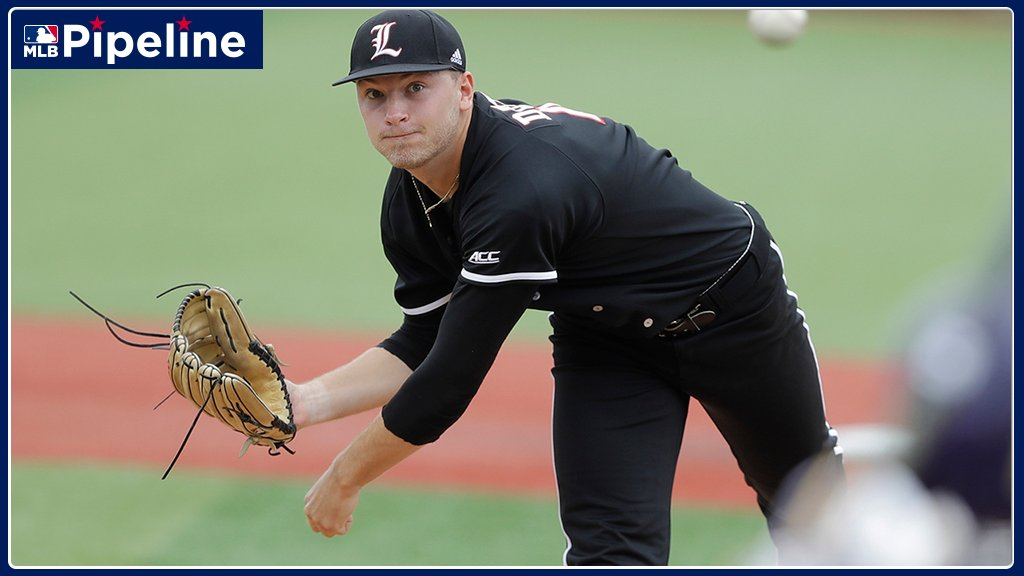 """""""Im not trying to go out there lighting up the radar guns every time ... I like to locate my pitches. An old-school approach has helped Reid Detmers become one of the top prospects in this years #MLBDraft class: atmlb.com/2yQ1Krd"""