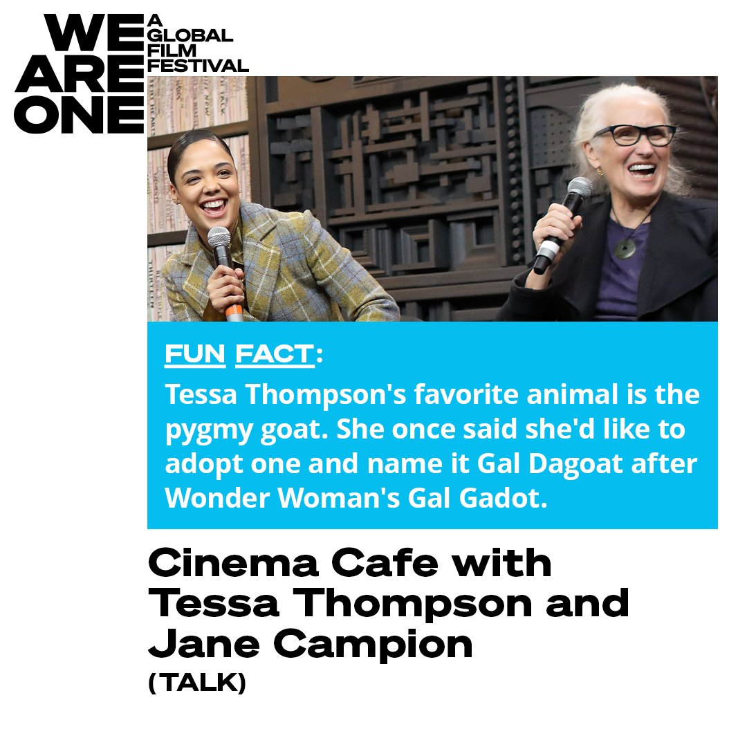 Can you blame @TessaThompson_x for her soft spot for pygmy goats? They are quite cute. Check out the actress' conversation with Jane Campion, curated by @sundancefest, on #WeAreOne now: https://bit.ly/3gKY4btpic.twitter.com/1FvTOdaZOS