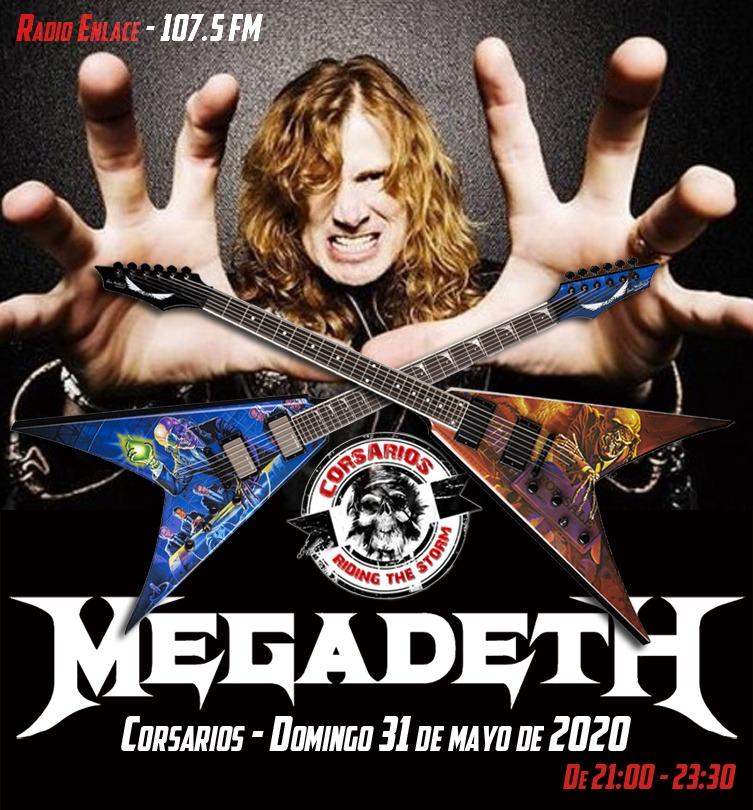 #DIRECTO Suena @MetalCorsarios, más de dos horas de #HeavyMetal hoy dedicadas a @Megadeth. Hasta casi las 23:30 h. en el 107.5 FM (norte de Madrid ciudad) y http://radioenlace.org.pic.twitter.com/Ac2YxZN6T3