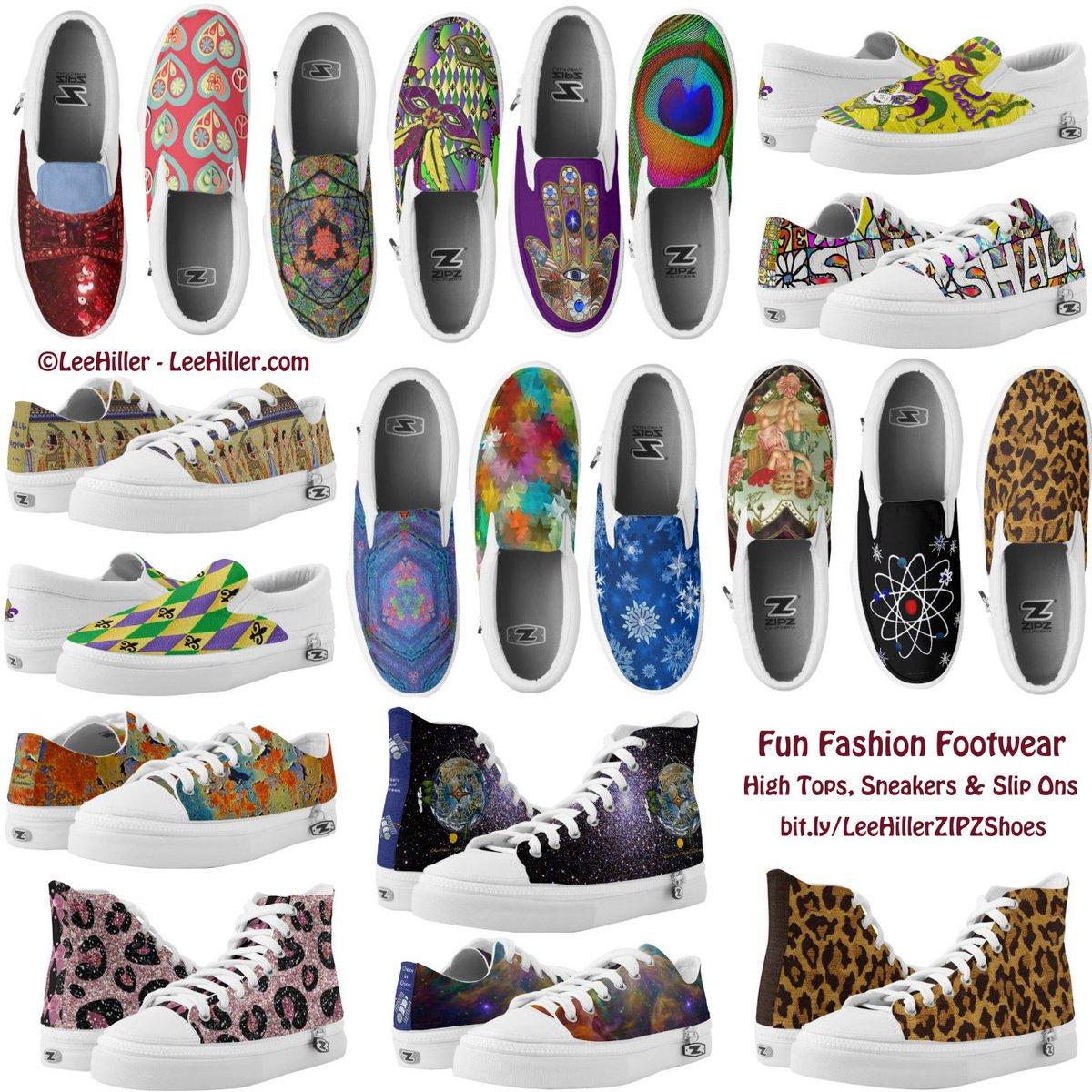 Fun Fashion #shoes #sneakers #hightops #slipons #wizardofoz #mardigras #NOLA #space #rockabilly #peacock #art #photography #design  #gifts #giftsforhim #giftsforher Men's and Women's sizes available #WorldWide #shipping http://bit.ly/LeeHillerZIPZShoes…pic.twitter.com/WzkENtKPwi