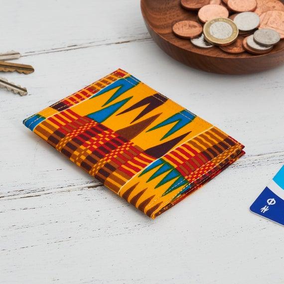 Card holder African print, credit card wallet, https://etsy.me/2TLBswr #bagsandpurses #cardholder #africanprint #creditcardwalletpic.twitter.com/LtgHzNn5NI