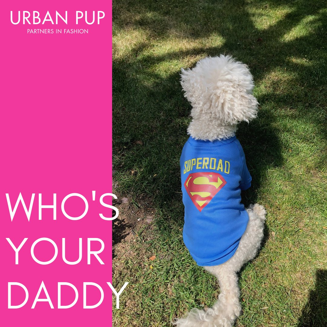 Our Father's Day range is now live!   We think it's the perfect way to let the special men in your life know they are loved.   Link to full range in bio.   #urbanpup #fathersday #furdaddy #dad #daddy #dadsarethebest pic.twitter.com/viVbwRupUi