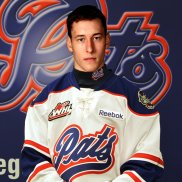 McCoy a centre from Edmonton was acquired with Filip Vasko & a conditional pick from Red Deer for Dominik Volek's rights in Dec. 2012. At the end of Dec. 2013 left the team to go to school. His rights were traded to Kelowna in Jan. 2014.  Stats: 66 GP 9-10-19 87 PIM - no playoffs pic.twitter.com/Y1B0HJlvIH