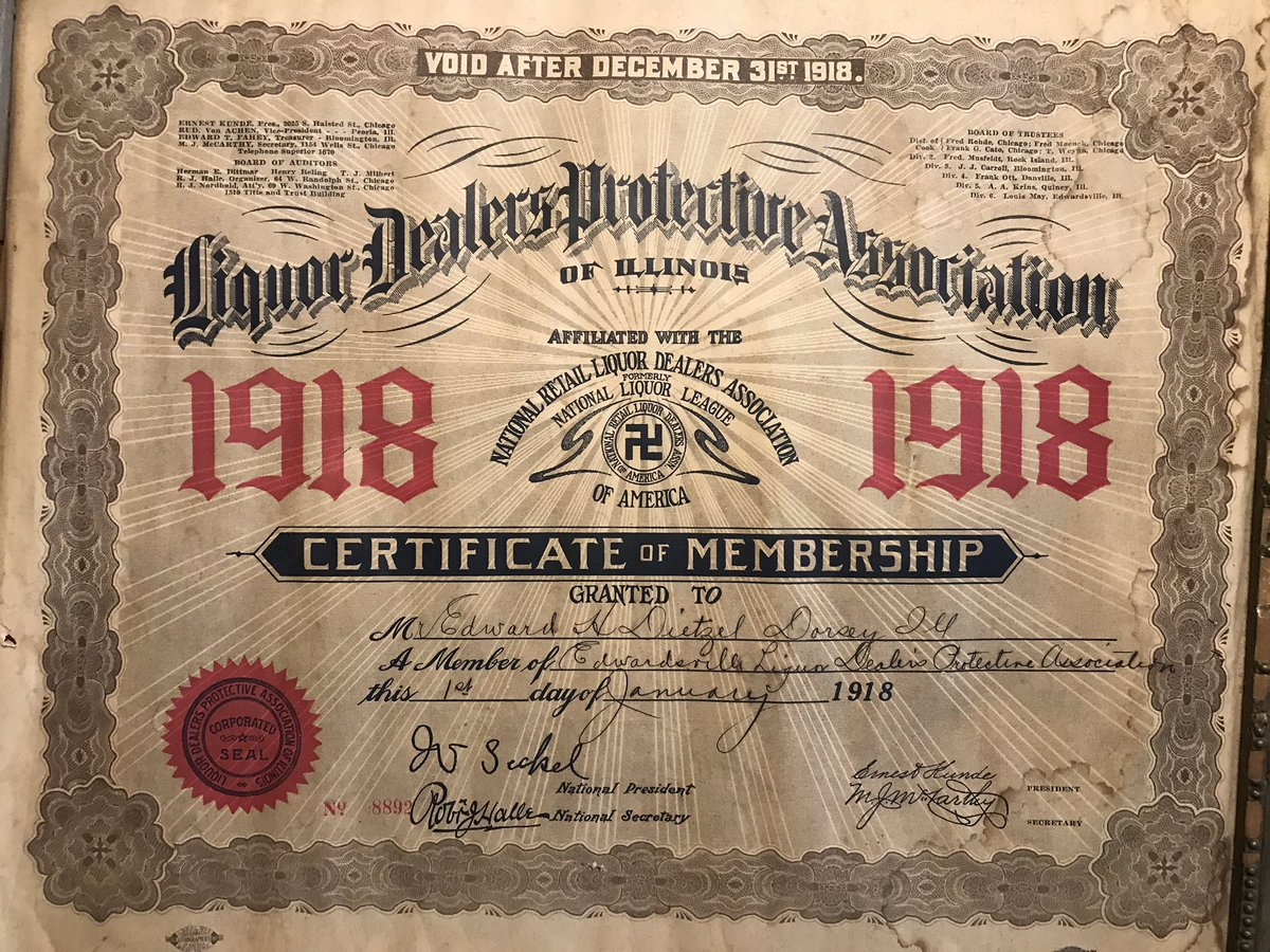 This was my great grandfather's. Any #twitterstorians know more about this organization?