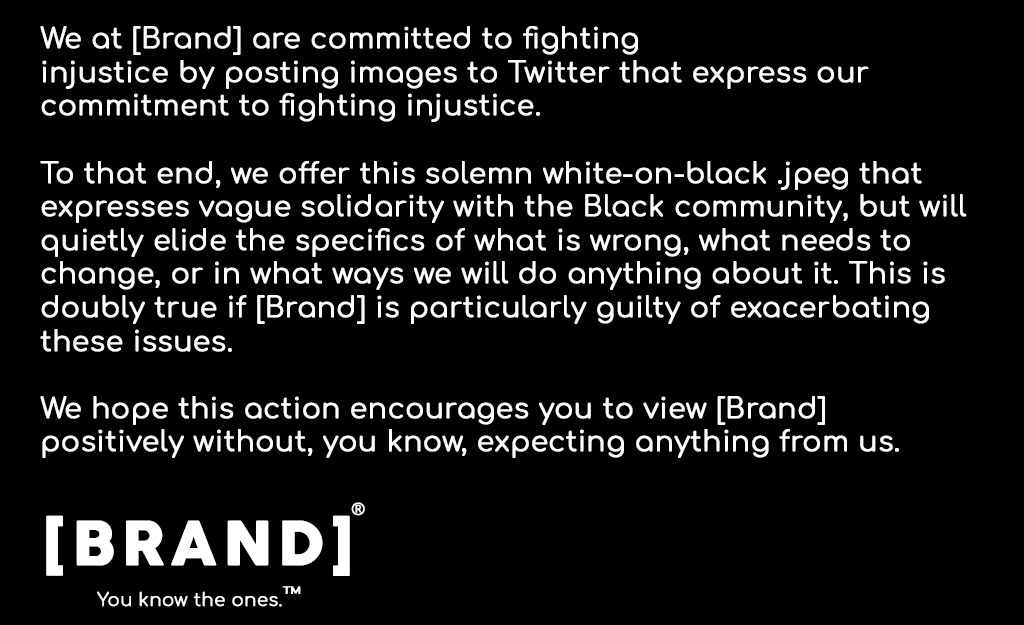 A statement from [Brand]®