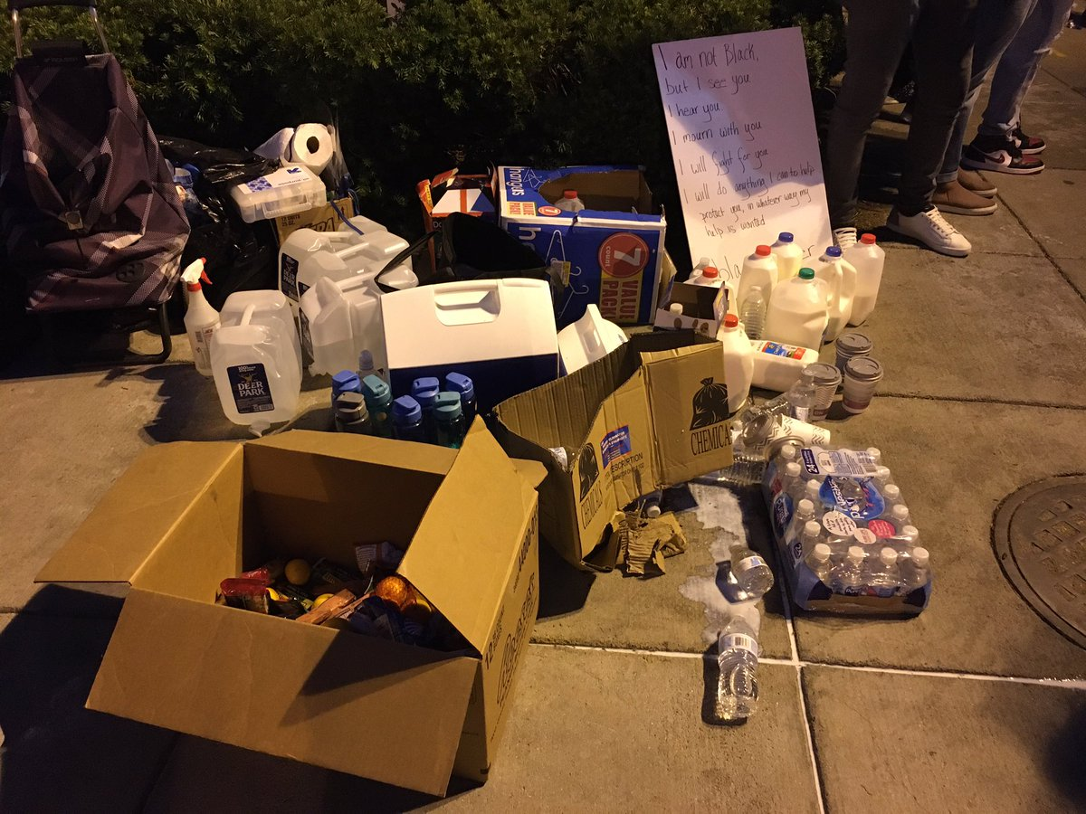 Tear gas relief supplies at the ready near the White House #DCProtests
