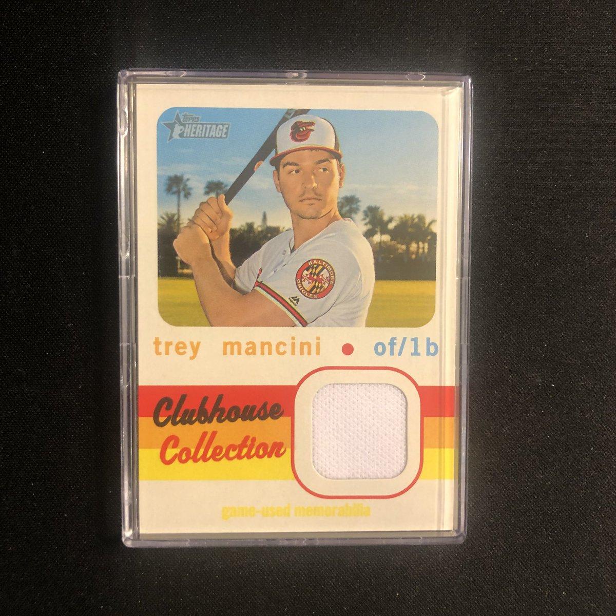Lot 16 - Trey Mancini 2020 Topps Heritage Clubhouse Collection Relic (CCR-TM) $1.00 #baseballcards #baseballcardsforsale <br>http://pic.twitter.com/CVIg3RYCsP