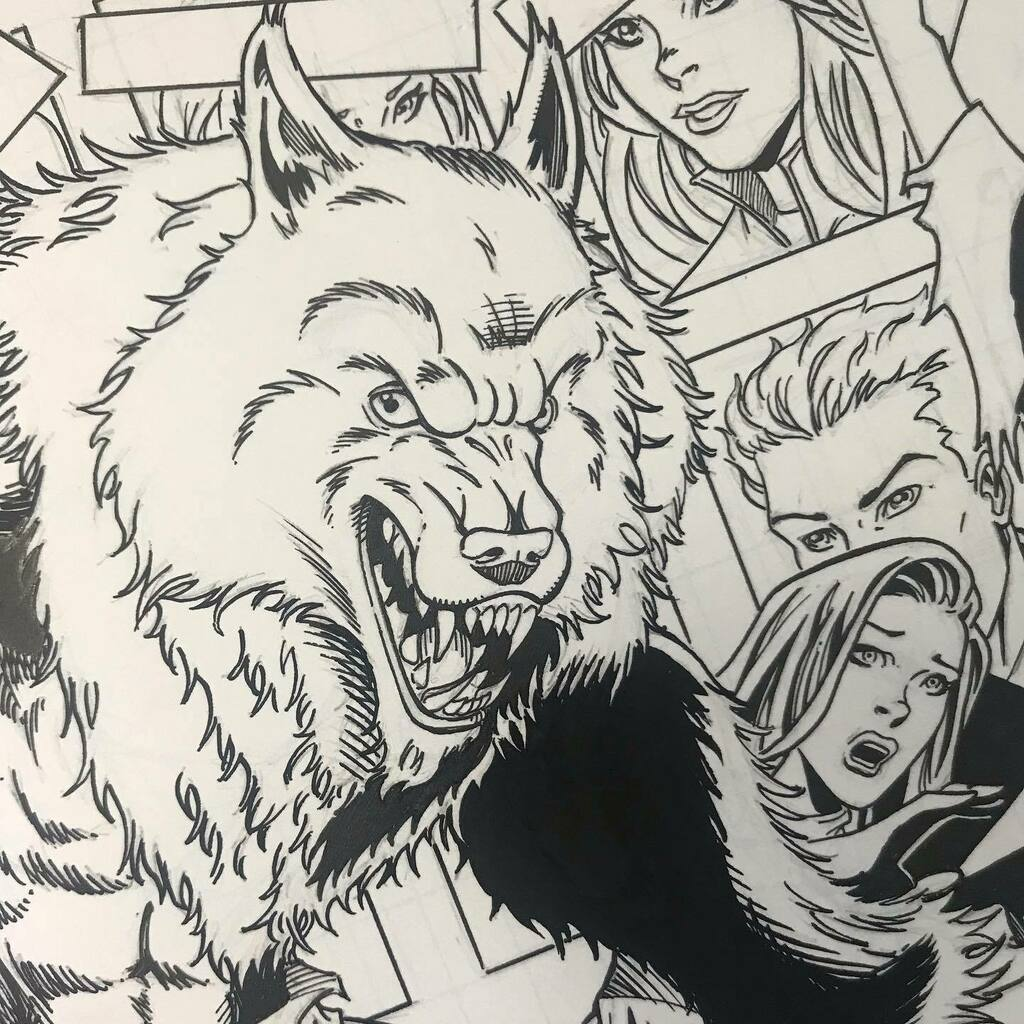 A preview of the inks on my Night Wolf cover for @lonewolfcomics and @robmultari  #nightwolf #werewolf #lycan #lonewolfcomics #coverart #comicbookcover #coverillustration #coverartist #coverartwork #illustration #penandink #seanforney https://instagr.am/p/CA32TqLhQvB/pic.twitter.com/v7PnNZQVg5