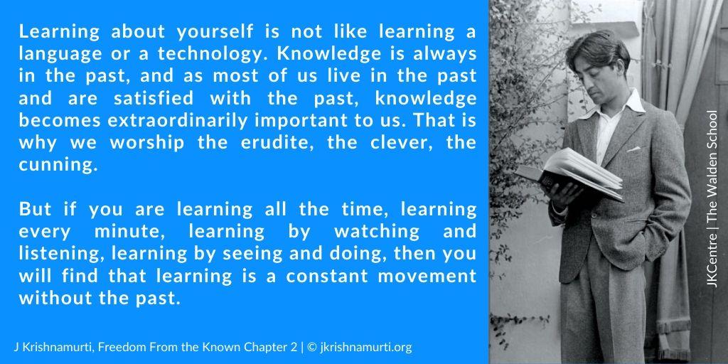 .@orgKrishnamurti J Krishnamurti on Knowledge & Learning  #JKrishnamurti #JidduKrishnamurti #Meditation #Awareness #Insights #Intelligence #Consciousness #Psychology #Philosophy #Philosopher #Mindfulness #spiritualawakening #spiritual #spirituality #yoga #positivethinking  #zenpic.twitter.com/t86cZwQM4B