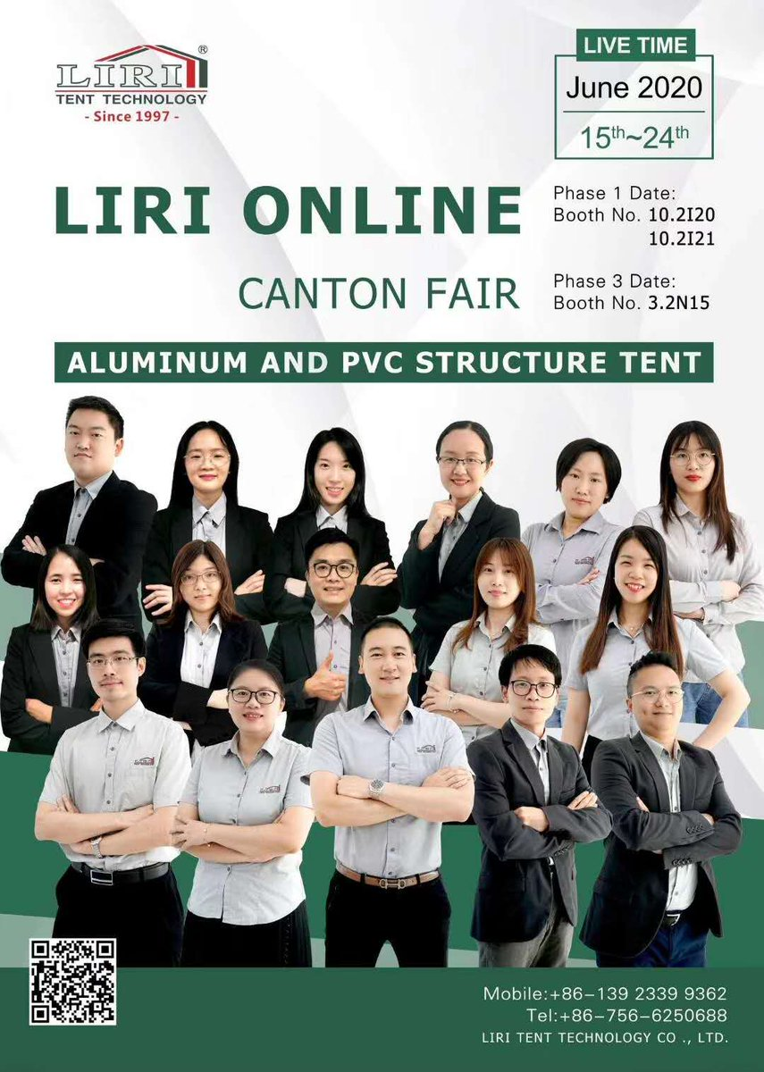 The 127th Canton Fair. Live online broadcast of 127th Canton Fair, we are looking forward to meeting you.  #cantonfair #cantonfair2020 #cantonfair2020 #cantonfair2020postponed #tent #china #canton #tentstructure #exhibitions #onlineexhibition #eventspic.twitter.com/zO3ZEwzYjA