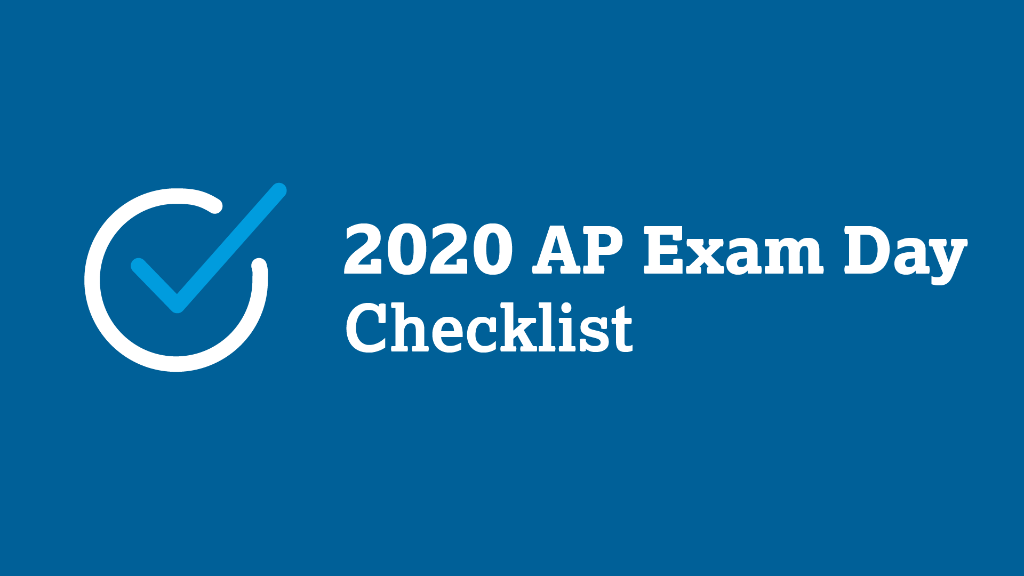 Complete this checklist for each AP Exam you take this week. spr.ly/6016GEAy6