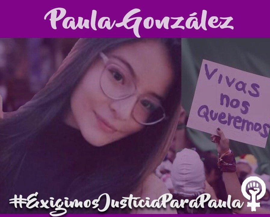 Paula Gonzáles, estudiante de la Universidad Tecnológica de Pereira. Encontrada HOY asesinada en el parque El oso en Pereira, un día después de hacer pública su desaparición. Exigimos #JusticiaParaPaula que estas pantallas no nos limiten, el tapabocas no nos calla #NiUnaMas