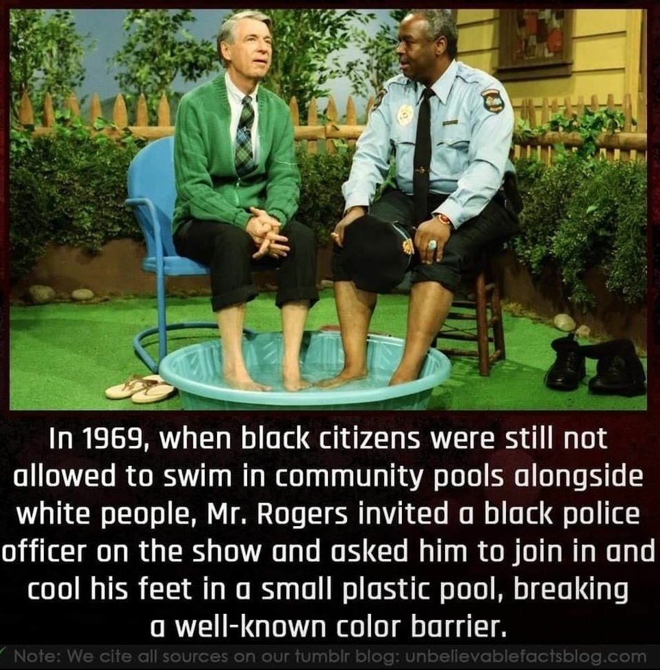 Be like Mr. Rogers.<br>http://pic.twitter.com/ZmyPHifuzK