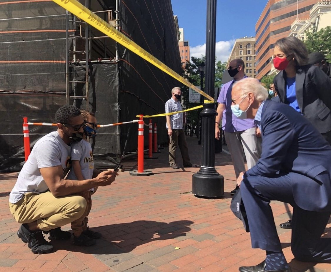 Replying to @BoKnowsNews: New: @JoeBiden campaign posts he visited Wilmington protest site today @CBSNews
