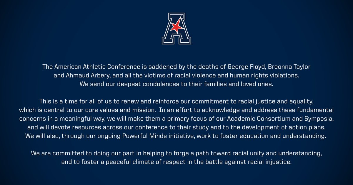 Statement from the American Athletic Conference.