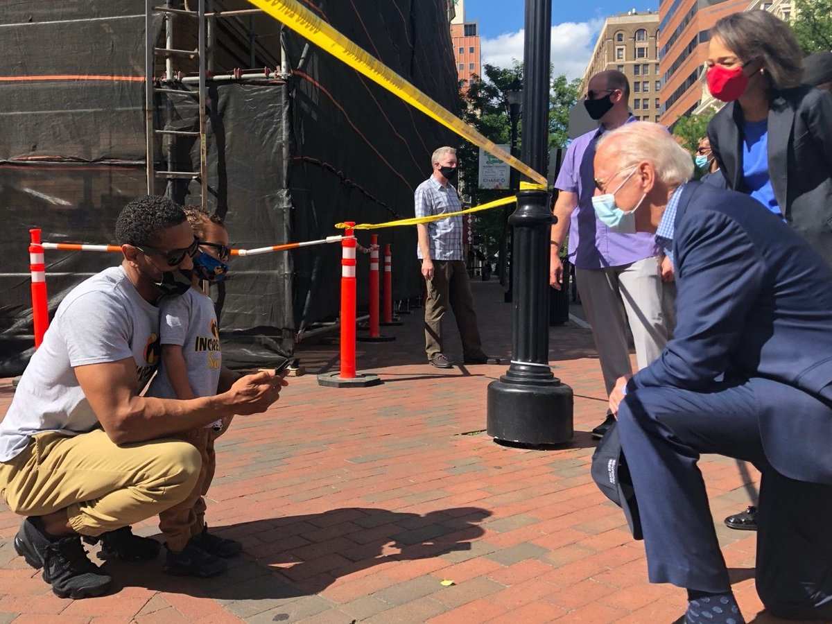 We are a nation in pain right now, but we must not allow this pain to destroy us.   As President, I will help lead this conversation — and more importantly, I will listen, just as I did today visiting the site of last night's protests in Wilmington.