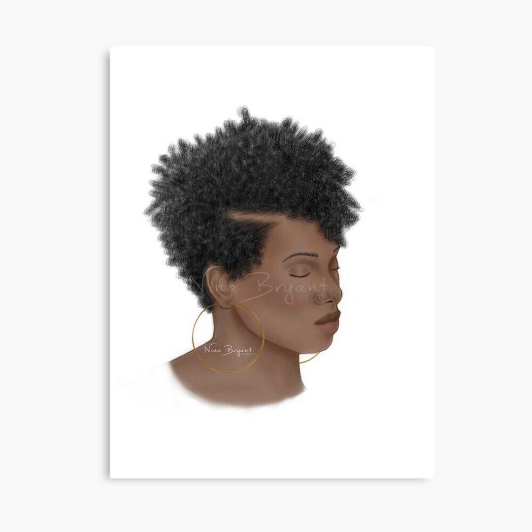 """Peace""   #art #naturalhair #procreate #naturalhairart #digitalart #blackwoman #digitalpainting #blackart #procreateart #ipadart #procreatepainting #empoweringwomen #blackgirlmagic #curlyhair #curls #blackgirlsillustrate #illustration #ninabryantstudio"