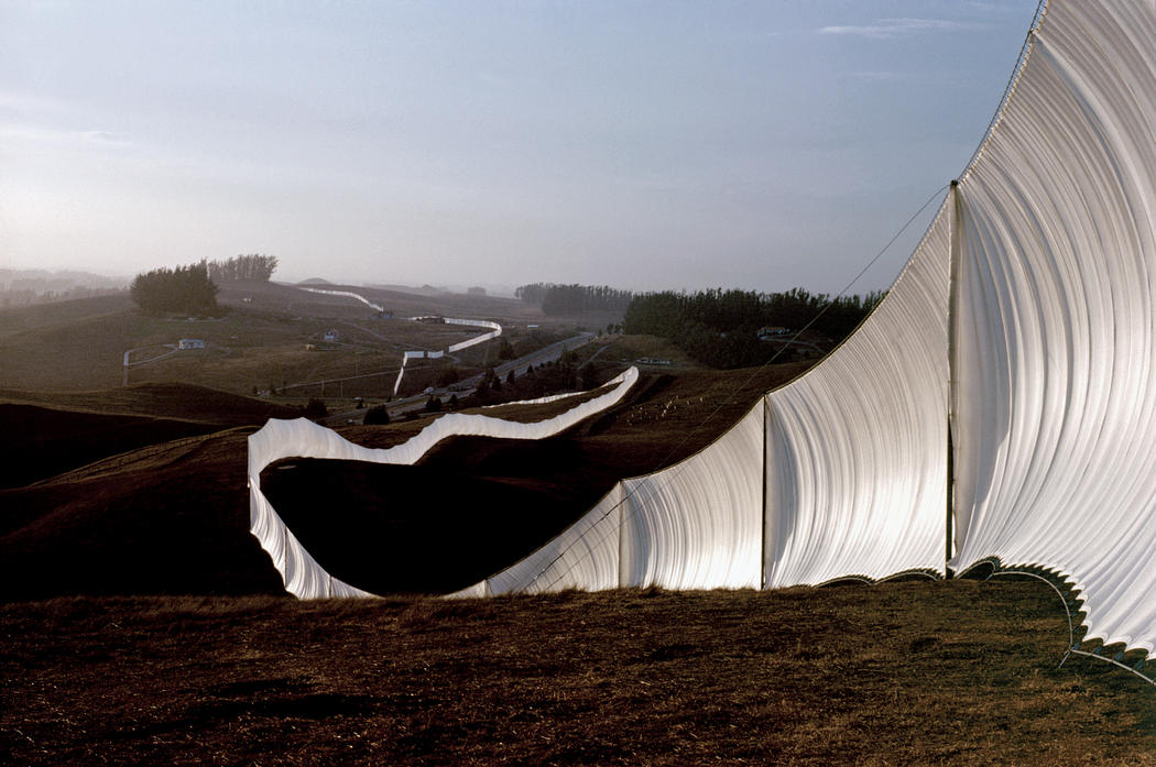 While meticulous about securing permissions, Christo plowed Fence into the ocean without approval (going behind his lawyers back) when it finally looked like it wouldnt happen—if there is no illegal part, the project is less reflective of the system, he said. (via Kee)