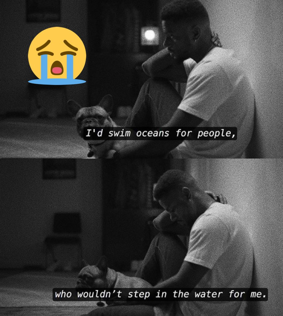 """"""" I'd swim oceans for people, who wouldn't step in the water for me """" #swim #oscean #sad #depression #depressed #boy #sit #alone #blackandwhite #water #nononecare #beingalone #sadquote"""