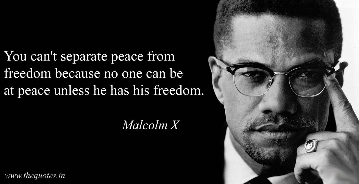 @justinamash I have yet to see a politician using a quote from Malcolm X. https://t.co/sFtRtPJL45