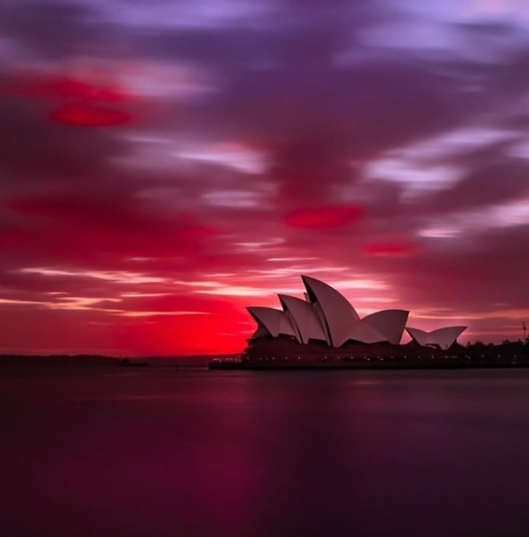 Awesome #sunset from #Sydney #Australia( naturerealities) pic.twitter.com/WuOihAlGqF