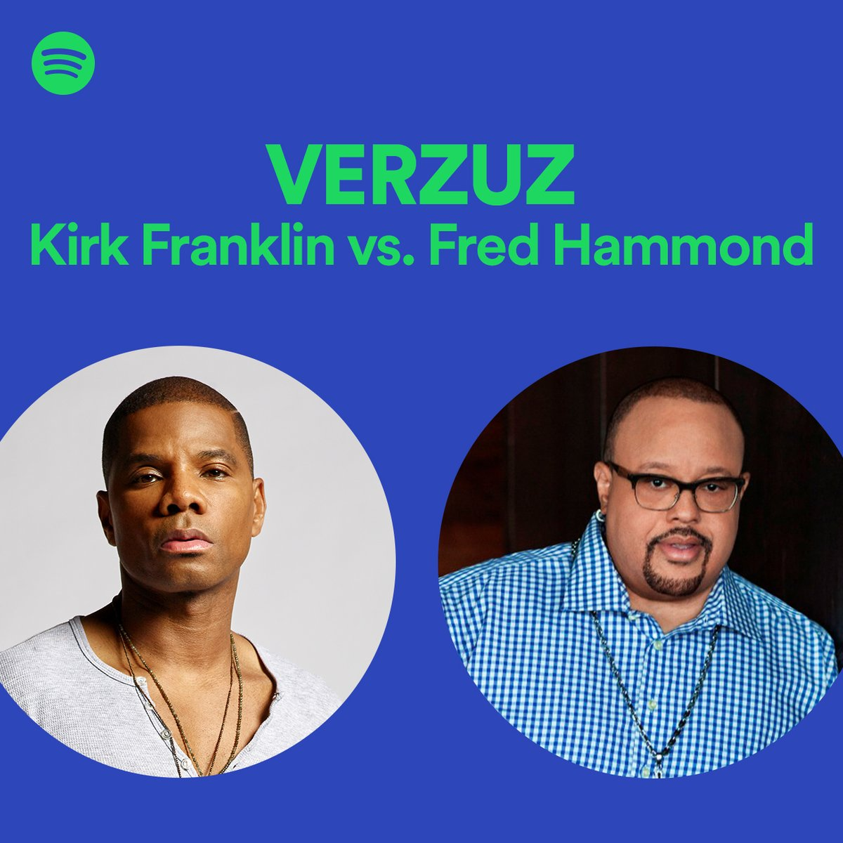 A moment for healing 🙏🏾 Kirk Franklin and Fred Hammond. The #Verzuz playlist. https://t.co/SCvJtzxMNO https://t.co/60d0PjIDXL