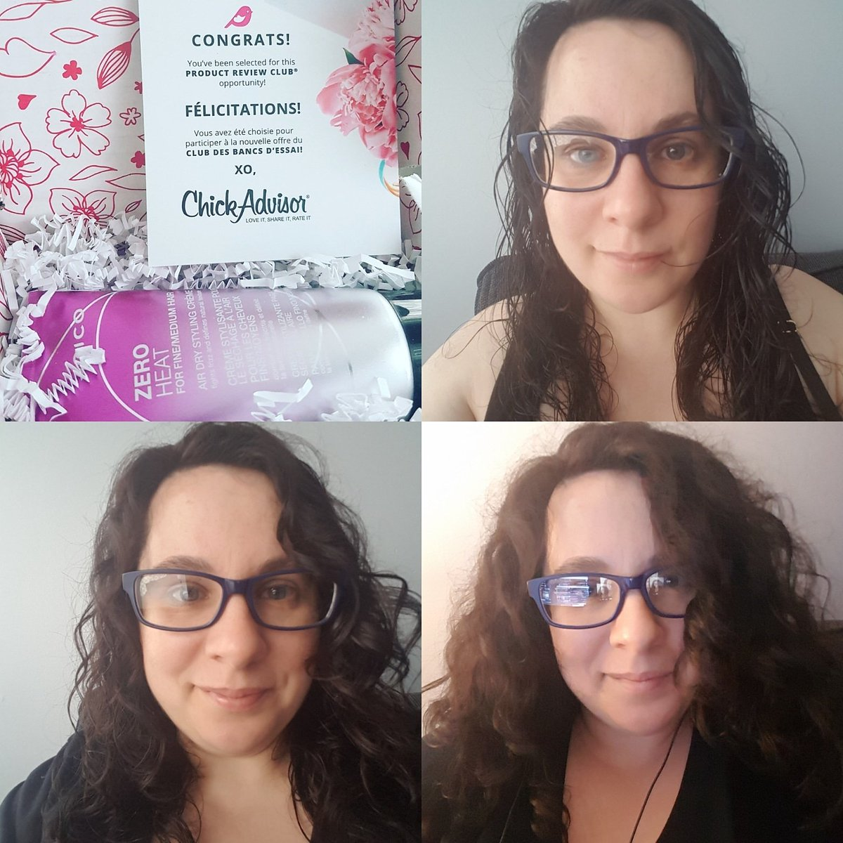 Tried #joicozeroheat today which I tested for @joicocanada and @chickadvisor  It seemed to make my hair dry quicker than it normally would. Lots of volume as you can see.  My curls however are a little less defined and a bit frizzy.   #gotitfree #haircare #hair #curlyhair #curls