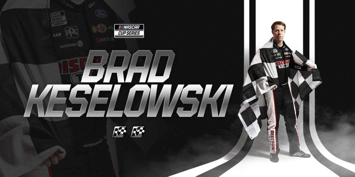 CHECKERED FLAG: @keselowski wins at @BMSupdates following the late contact between @joeylogano and @chaseelliott! https://t.co/Q8oCcMV256