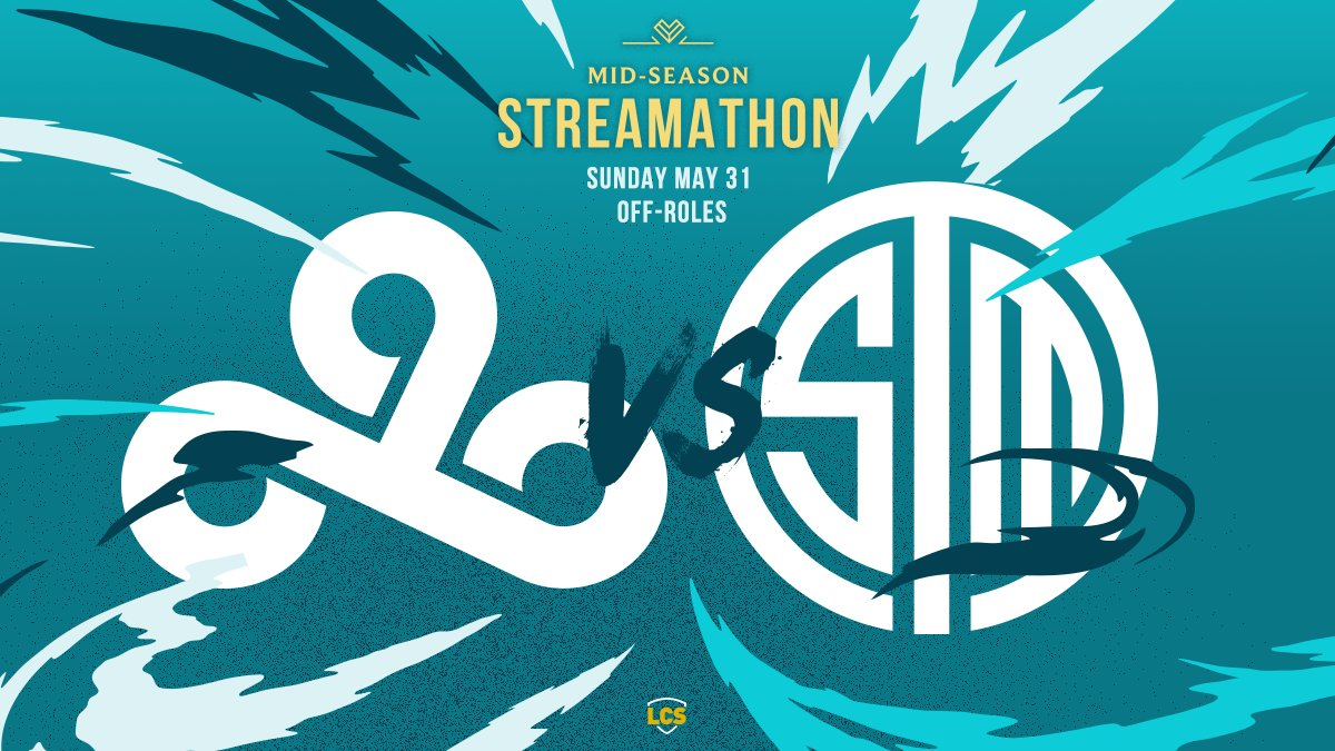 We close out the #LCS portion of the 2020 Mid-Season Streamathon next with an off-role face off between @Cloud9 and @TSM! #MSS2020 📺 watch.lolesports.com/live/midseason…